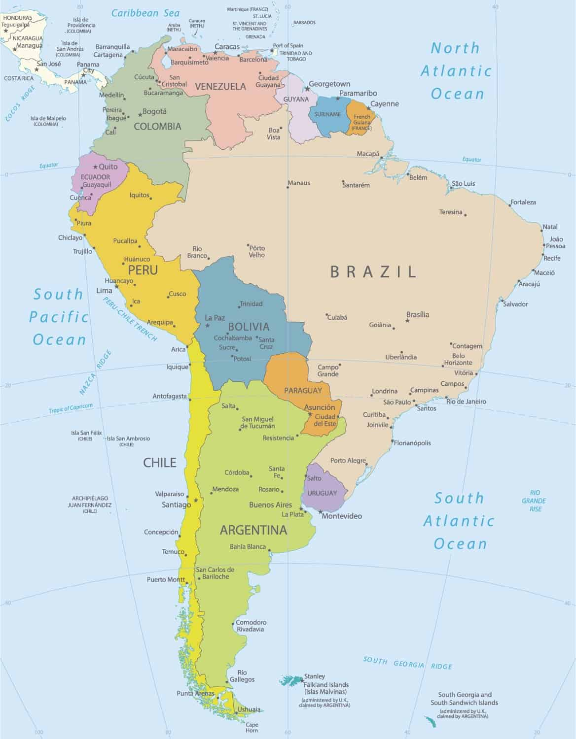 South America Map | ePhotoPix