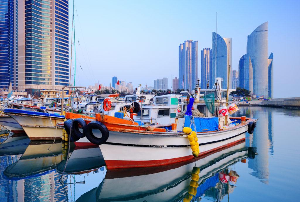 Boats Haeundae Busan South Korea