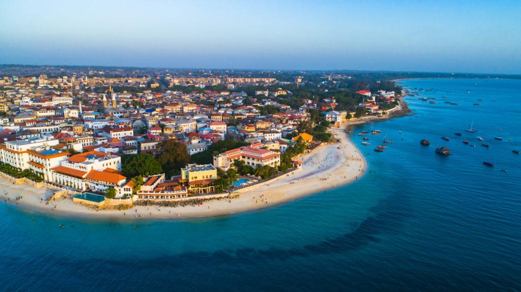 Stone town of Zanzibar Island