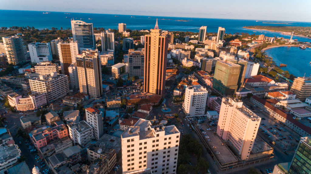 Modern buildings in Dar es Salaam
