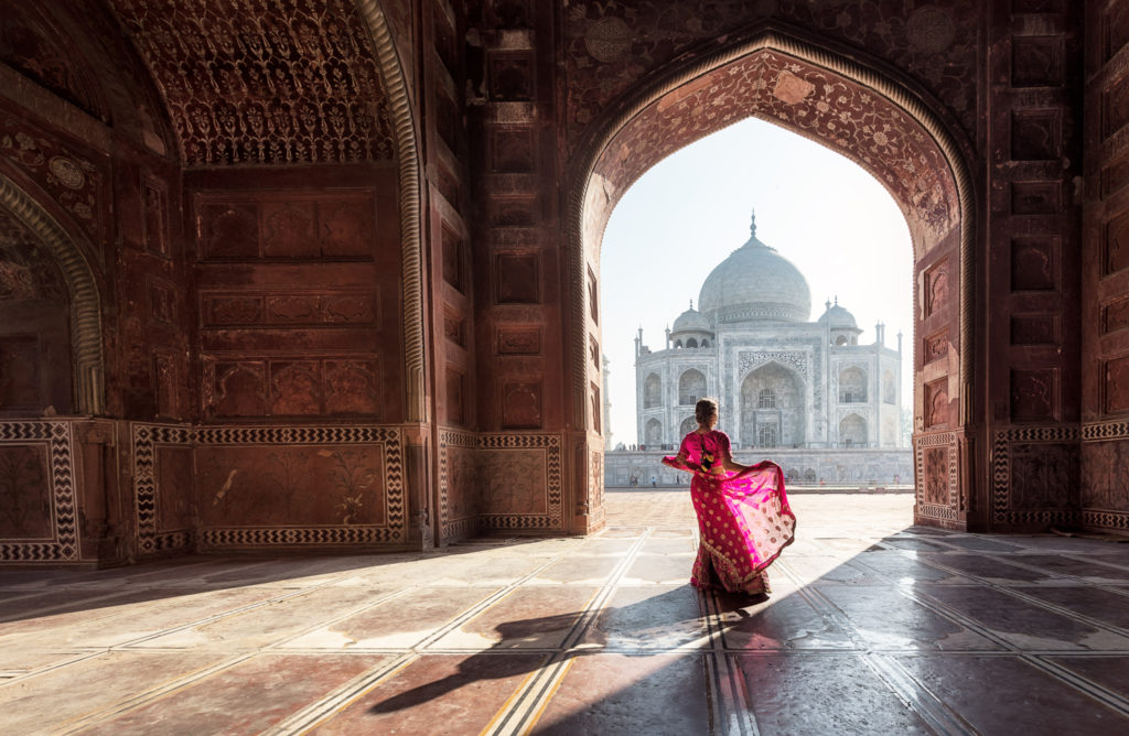 Gorgeous interior of the Taj Mahal